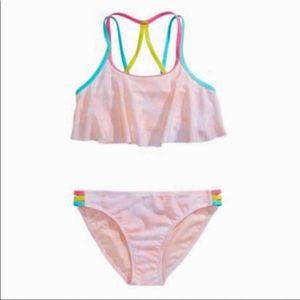 Girls Pink Tie Dye Flounce Bikini! NEW!